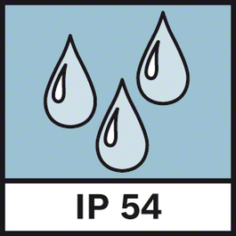 IP保護54 防塵、防濺IP54