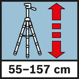 工作高度55 -157 cm 工作高度從55至157 cm