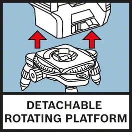 分離。旋轉平台 旋轉迷你三腳架,使精細定位更加容易