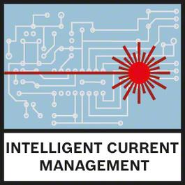 智慧型電流管理 智慧型電流管理有助於監控雷射二極體溫度,並有效提升雷射可見性而不會過熱