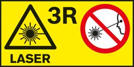 雷射級別3R 不同測量工具的雷射級別。