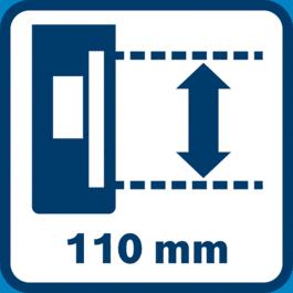 超長的接收區域110mm