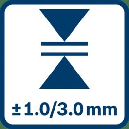 測量精確度± 1.0/3.0 mm