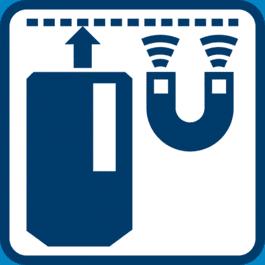 接收器頂端有磁鐵可供快速安裝