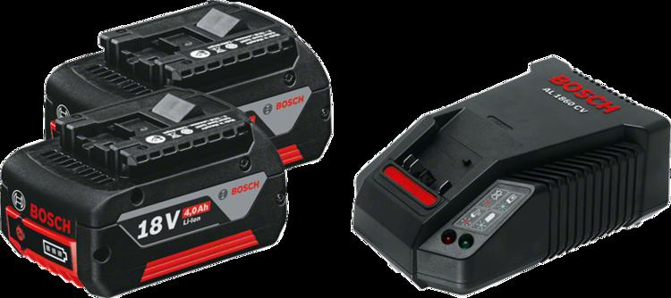 2個GBA 18V 4.0Ah + AL 1860 CV Professional